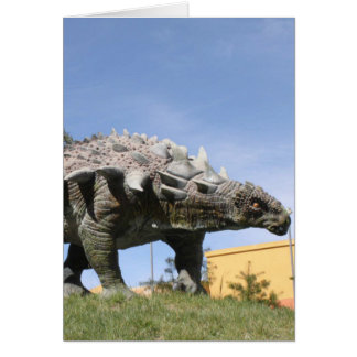 Dinosaur - Ankylosaurus Dinosaur in Sucre Bolivia Card