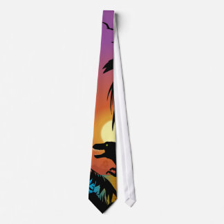 Dinosaur at Dawn Neck Tie