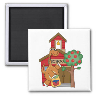 Dinosaur at School t-shirts and Gifts 2 Inch Square Magnet