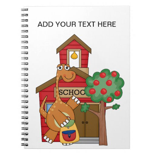 Dinosaur at School t-shirts and Gifts Note Book