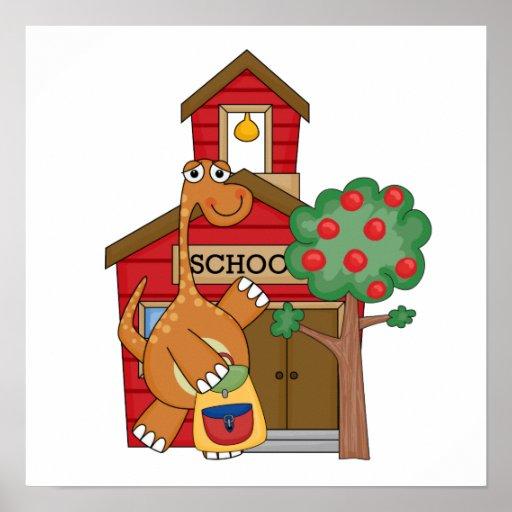Dinosaur at School t-shirts and Gifts Poster