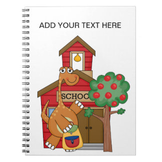Dinosaur at School t-shirts and Gifts Spiral Notebook