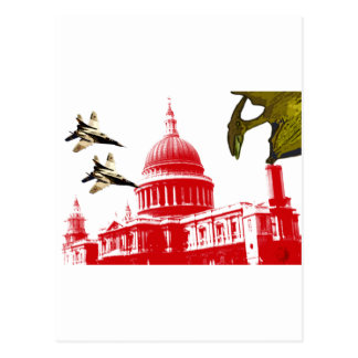 dinosaur Attacks Postcard