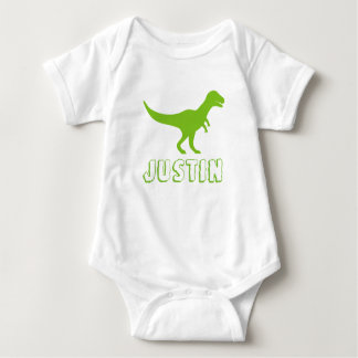 Dinosaur baby clothes personalized with kids name baby bodysuit