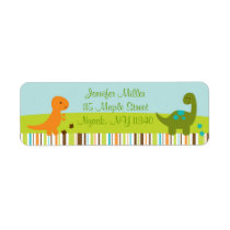Dinosaur Baby Shower Address Label