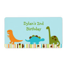 Dinosaur Baby Shower Favor Label
