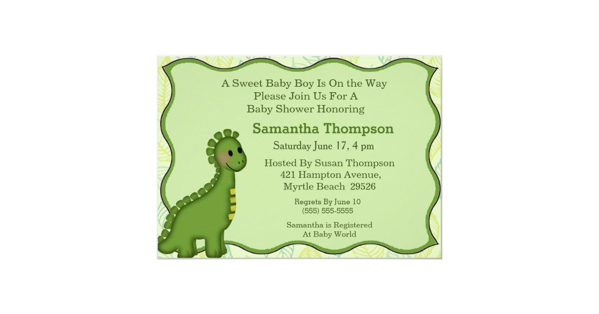 Dinosaur Wedding Invitations: Dinosaur Baby Shower Invitation