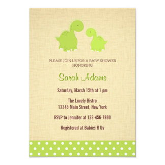 Dinosaur Baby Shower Invitation Rustic