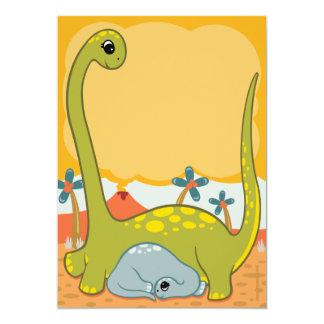 "Dinosaur Baby Shower Invitations 5"" X 7"" Invitation Card"