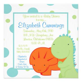 dinosaur Baby Shower invite cute fun simple