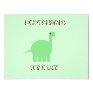 Dinosaur Baby shower its a boy Card