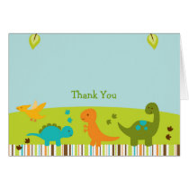 Dinosaur Baby Shower Thank You Card
