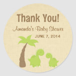 Dinosaur Baby Shower Thank You Stickers