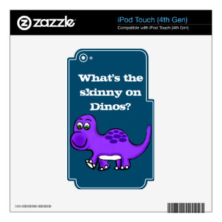 Dinosaur Baby What's The Skinny? iPod Touch 4G Skin