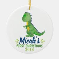 Dinosaur Baby's First Christmas Ornament