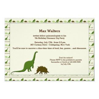 Dinosaur Background Invitation