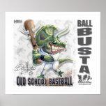 Dinosaur Ball Busta baseball Print