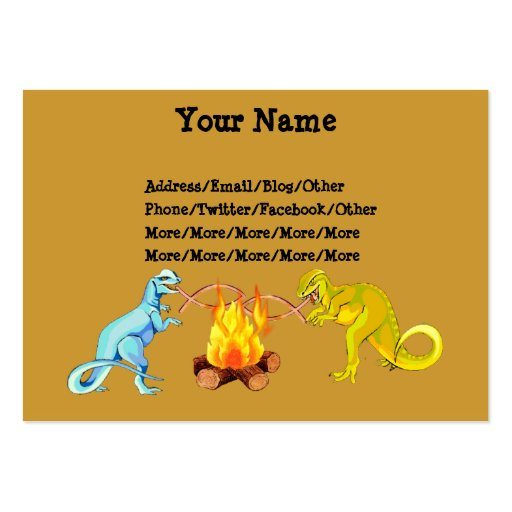 Dinosaur Barbecue Business Card