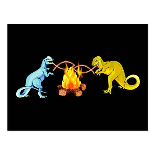 Dinosaur Barbecue Postcard