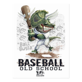 Dinosaur Baseball Ball Busta Gear Postcard