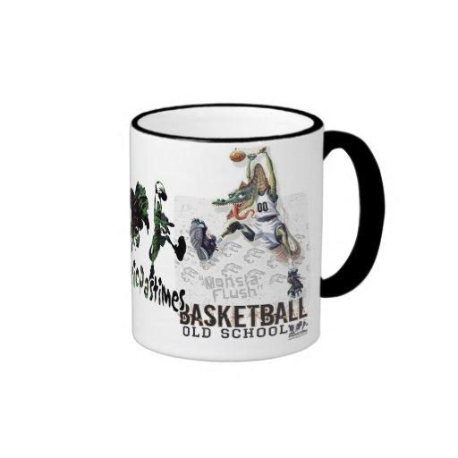 Dinosaur Basketball Monsta Flush Gear Ringer Coffee Mug