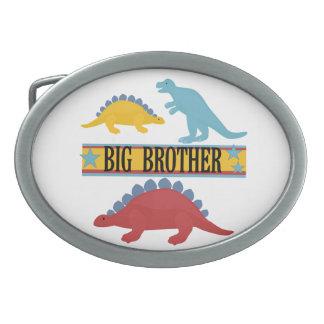 Dinosaur Big Brother Oval Belt Buckles