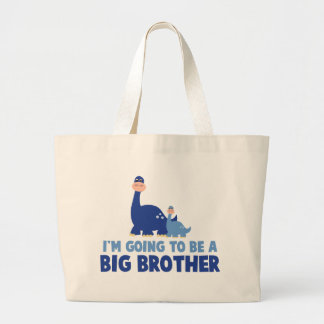 dinosaur big brother to be NEW blue Tote Bag