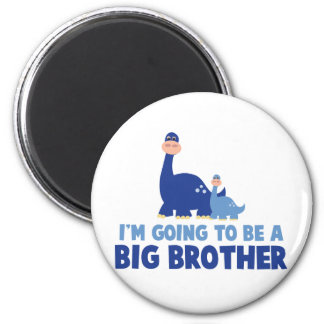 dinosaur big brother to be NEW blue Magnet