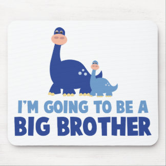 dinosaur big brother to be NEW blue Mouse Pad