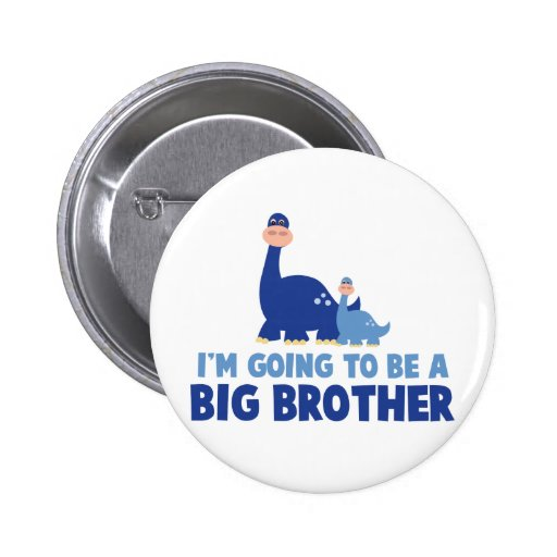 dinosaur big brother to be NEW blue Pins