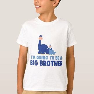 dinosaur big brother to be NEW blue T-Shirt