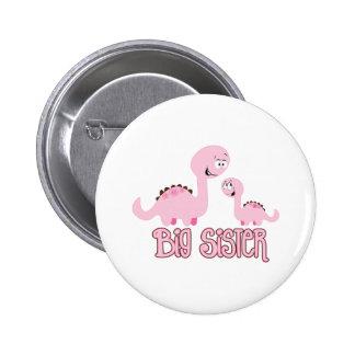 Dinosaur Big Sister 2 Inch Round Button