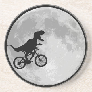 Dinosaur Bike & Moon Drink Coasters