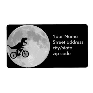 Dinosaur Bike & Moon Shipping Label
