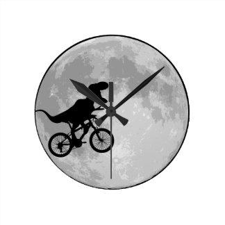 Dinosaur Bike & Moon Wall Clocks