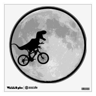 Dinosaur Bike & Moon Room Sticker