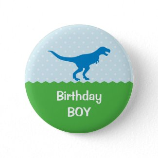 Dinosaur Birthday Button button