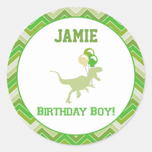Dinosaur Birthday Cupcake Toppers/Stickers