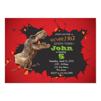 dinosaur birthday invitations & announcements | zazzle, Birthday invitations