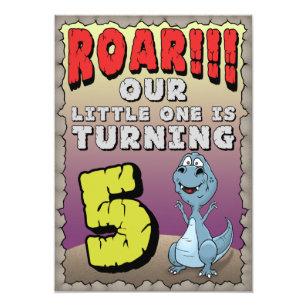 5 year old birthday invitations zazzle dinosaur birthday invitation 5 year old stopboris Gallery