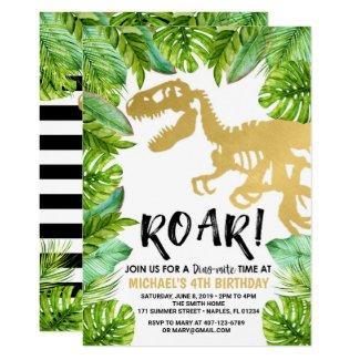 Dinosaur birthday invitation Dino Party Boy