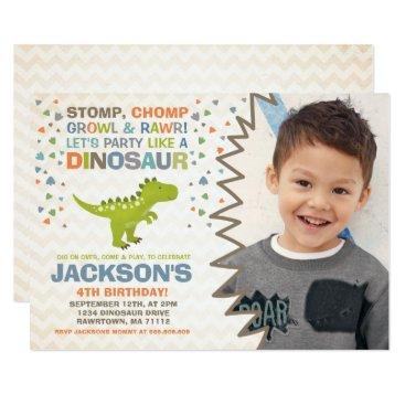 PixelPerfectionParty Dinosaur Birthday Invitation Dinosaur Dig Party