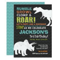 Dinosaur Birthday Invitation Dinosaur Fossil Party