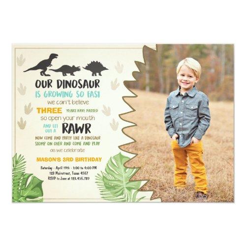 Dinosaur birthday invitation Dinosaur Party Invite