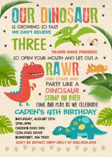 Reptile birthday invitations zazzle dinosaur birthday invitation dinosaur t rex party filmwisefo