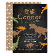 Dinosaur Birthday Invitation, Roar Party Invitation