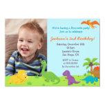 Dinosaur Birthday Party Invitaions 5x7 Paper Invitation Card