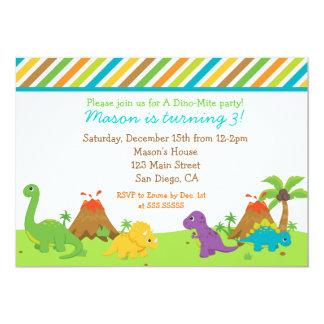Dinosaur Birthday Party Invitaions Card