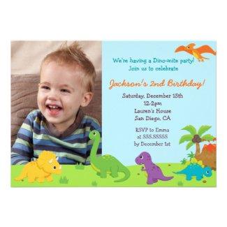 Dinosaur Birthday Party Invitaions Cards