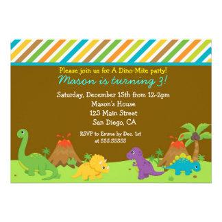 Dinosaur Birthday Party Invitaions Personalized Invites